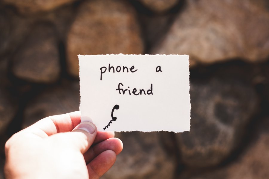 phone a friend white paper note