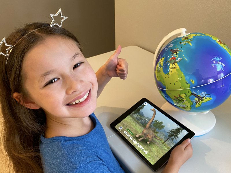 Orboot Dinos AR globe for kids